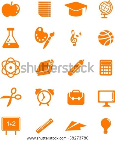 Collection of many educations and science icons - stock vector
