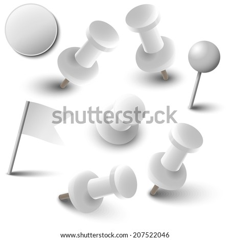 Collection of marking accessories - white - stock vector