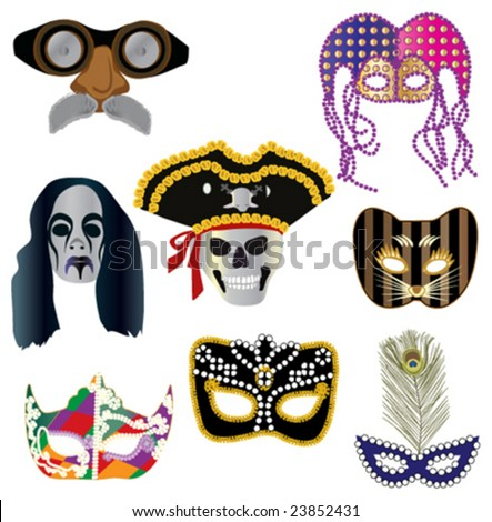 Collection of masks for designers - stock vector
