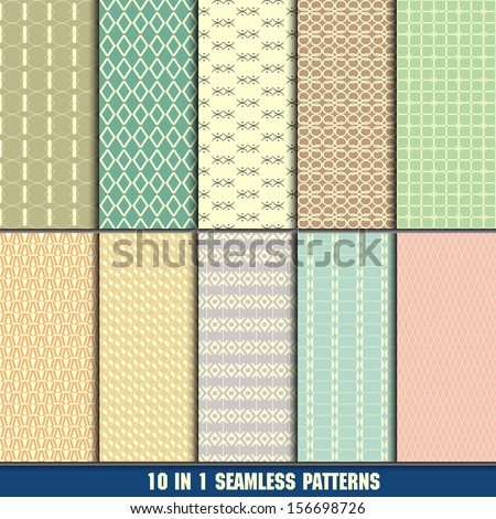 collection of modern seamless patterns for making wallpapers - stock vector