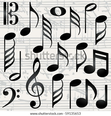 Collection Music Symbols Vector Stock Vector 59135653 Shutterstock