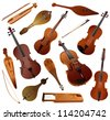 Collection of musical instruments - stock photo