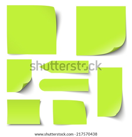 Collection Notes Memos Blank Stock Vector   Shutterstock