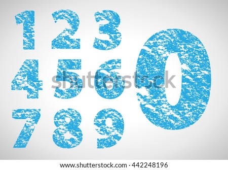Collection Of Numbers Icons Set - Isolated On Gray Background. Vector Illustration, Graphic Design