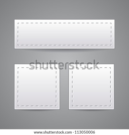 Collection of paper. Vector - stock vector