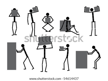 Collection of peoples icons, for your design. Vector. Set-4. - stock vector