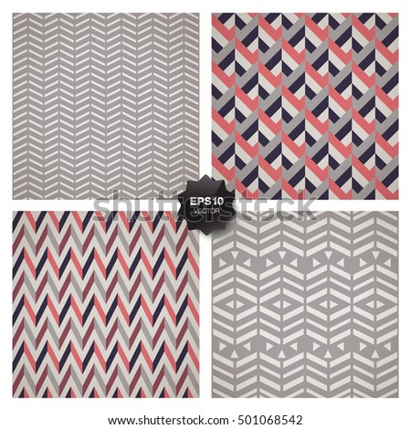 Collection of 4 popular geometric patterns.