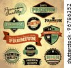 Collection of Premium Quality with retro vintage styled design - stock