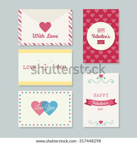 Collection printable beautiful valentines greeting cards stock collection printable beautiful valentines greeting cards stock vector hd royalty free 357448298 shutterstock m4hsunfo
