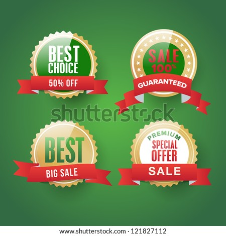 Collection of sale Labels - stock vector