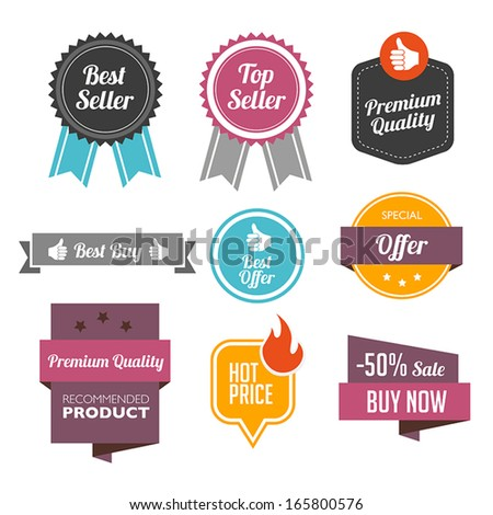 Collection of Sales Labels - stock vector