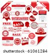 Collection of satisfaction labels - stock vector