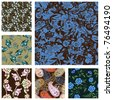 Collection Of Seamless Patterns - stock photo