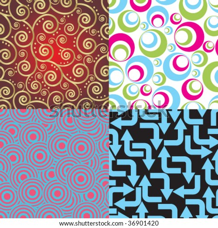 collection of seamless vector background