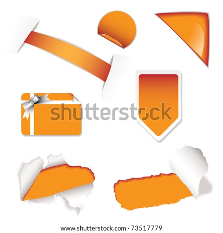 Collection of shop sale stickers for price promotion - stock vector