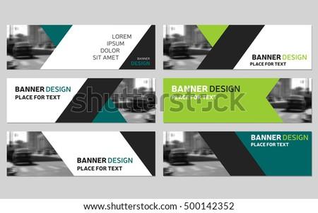 Collection six green horizontal business banner stock vector collection of six green horizontal business banner templates corporate banner website modern banner wajeb Choice Image