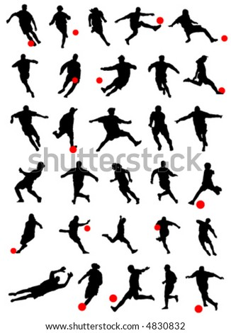 collection of soccer vector - stock vector