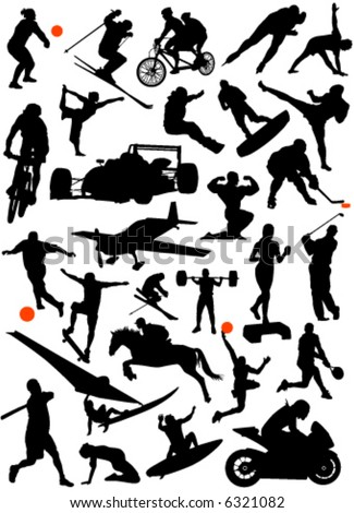 collection of sports vector 4 - stock vector