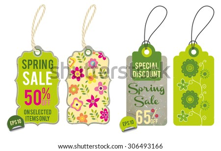 Collection of Spring Sales Hang Tags 3
