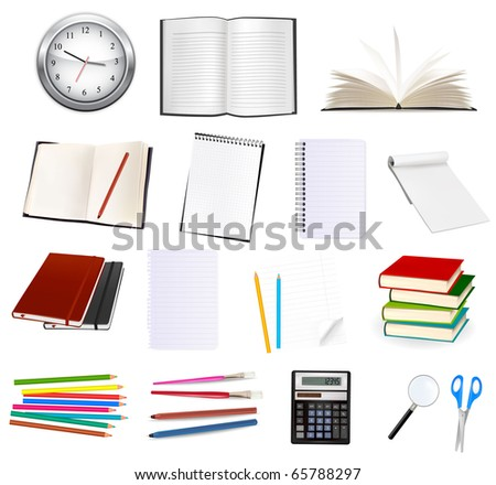 Collection of stationery for the office. Vector illustration - stock vector