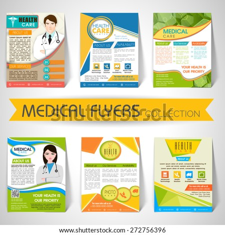 Collection of stylish Flyers, Templates or Banners for Medical and Health Care concept. - stock vector