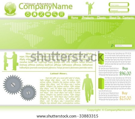 Collection of templates of website (Party #2). - stock vector