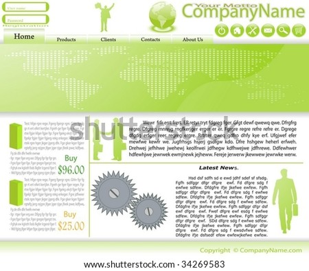 Collection of templates of website (Party #4). - stock vector