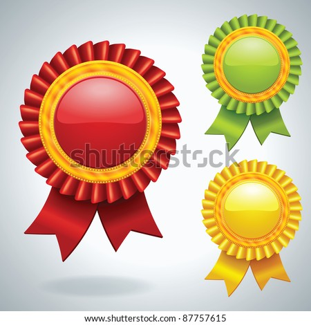 Collection of three vector Medals - stock vector