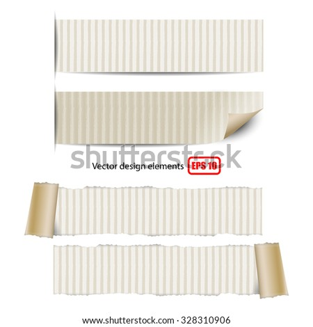 collection of torn paper on white background vector illustration eps 10 - stock vector