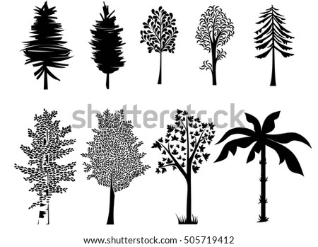 Collection of various trees for your design