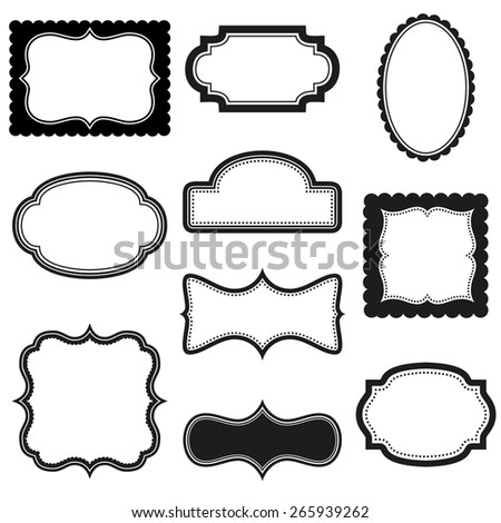 Collection of vector decorative frames - stock vector