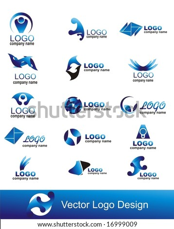 collection of vector graphic design elements - stock vector