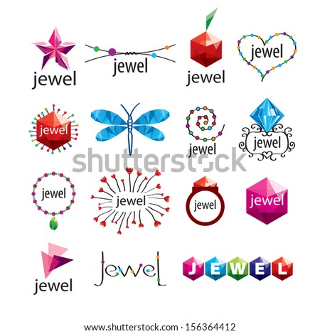collection of vector icons jewelry and fashion accessories - stock vector