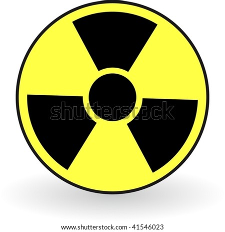 Collection of vector illustrations of radiation - stock vector