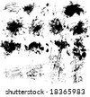 collection of vector paint splatters - stock vector