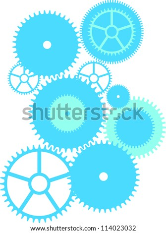 collection of vector sprockets - stock vector
