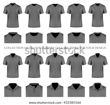Womens Poloshirt Design Template Front Back Stock Vector