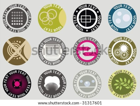 collection of vector tags