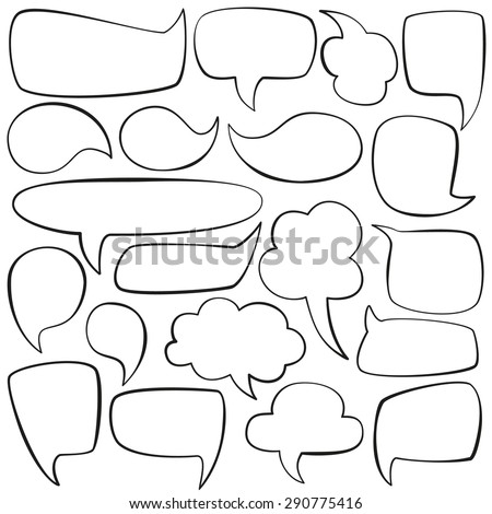 Collection of vector talk bubbles - stock vector