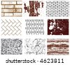 Collection of vector textures. - stock vector