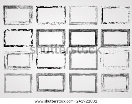 Collection of Vector Vintage Grunge Distress Border Frame . Grunge Frame .  - stock vector