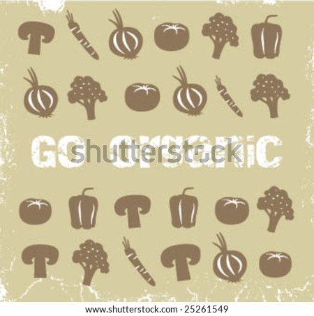 Collection of vegetables - stock vector