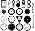 collection of wall clock vector - stock vector