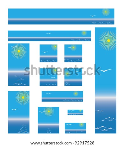 collection of web banners about sea travel - stock vector
