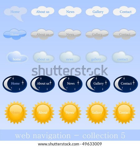 collection of web navigation - stock vector