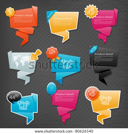 Collection of website elements - stock vector