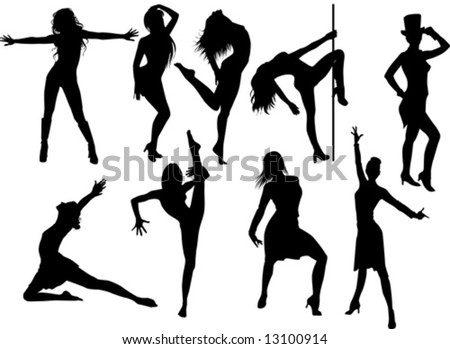 collection of woman dancing striptease