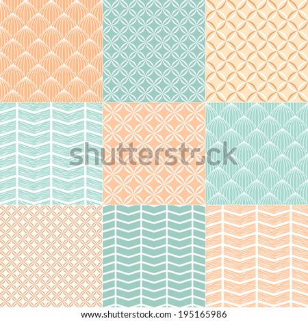 Collection pattern for scrapbook. Vector illustration.