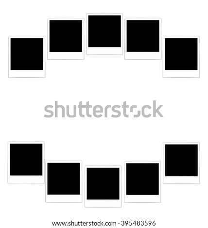 Collection photo frame for design scrapbook space for your text - vector - stock vector