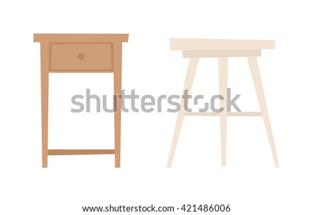 Collection types seating chair vector. Home chair, cafe wooden chair and retro armchair. Simple cartoon isolated chair vector illustration. Chair vector seat interior modern wooden design. - stock vector